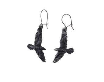 Black Ravenine Earrings: Goth, Alchemy of England, Goth Earrings, Goth Accessories