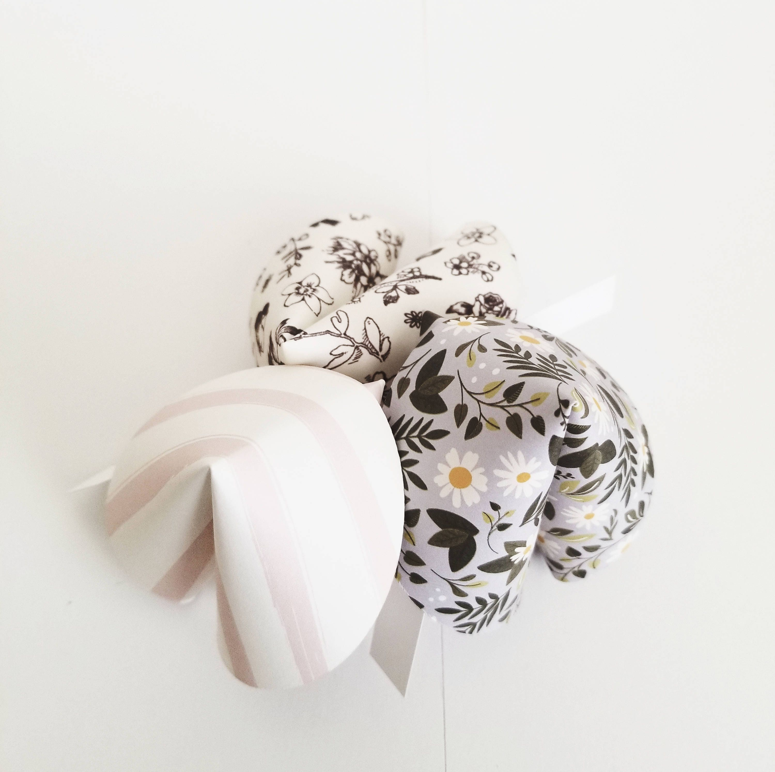 Bridal Shower Favors Paper Fortune Cookies Black and Pink Floral ...