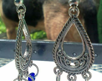 cobalt blue chandelier earrings