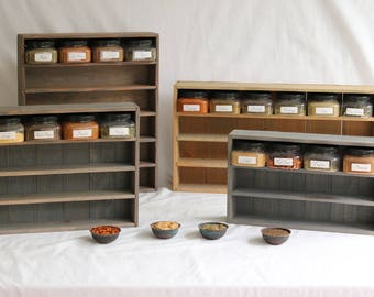 Handmade Solid Wood Spice Racks By Thecottagelilac On Etsy