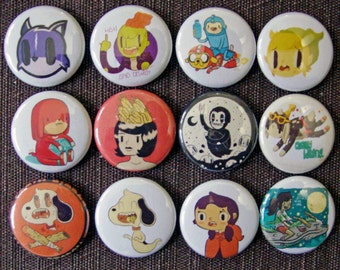 """100 1"""" Full Color Custom Buttons - Your Design or Logo - 1 inch Pinback Buttons"""