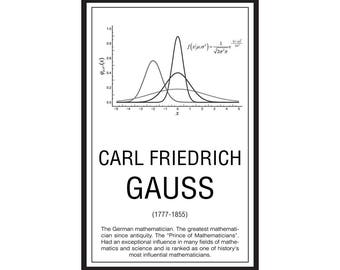 Math Poster,  Printable Poster, Maths, Education, Mathematicians, Gauss