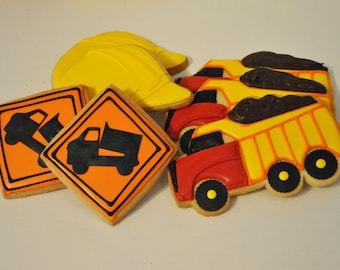 Construction Dump Truck Cookies - 1 dozen