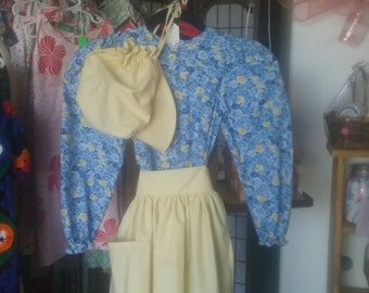 Girls Pioneer Dress set order any size and color, Prairie Dress, Little House On the Prairie, Laura Ingles