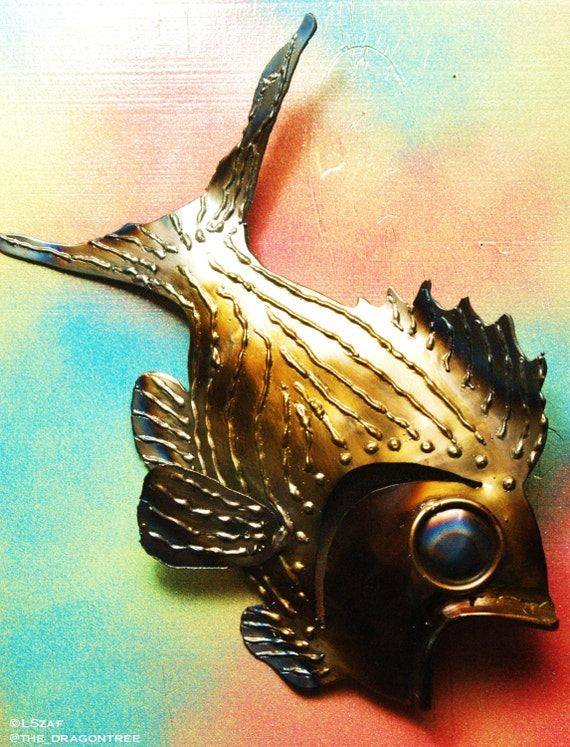 Samantha Striper, Metal Fish Wall Decor,Whimsical Series