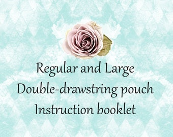 PDF pattern for fully lined-double-drawstring-regular and large-oracle/tarot bag by Lisa McLoughlin Art