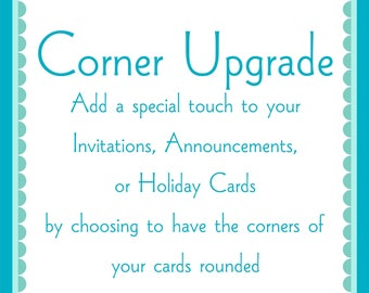 Rounded Corners Add On for Invitations, Announcements, or Holiday Cards