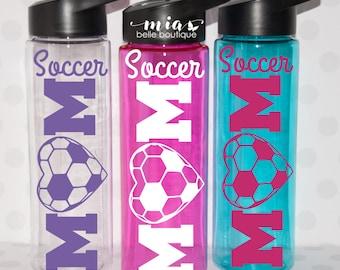 Soccer Mom personalized water bottle, soccer mom cup, soccer team mom, mom gift, soccer mom gift, sports mom, team mom