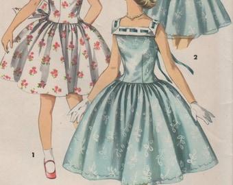 Sz 12-FACTORY FOLDED 1950's Girls' Dress Simplicity 1633 Breast 30