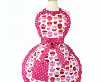 Valentine Sweet Cupcake Love Apron