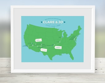 Road trip map Etsy