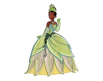 Princess Tiana Iron On Applique, Genuine Disney Iron On Patch, Tiana Patch, Tiana Applique, Disney Applique, Princess Patch, Kids Patch