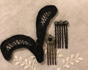 Rhinestone Hair Accessories Set of 2