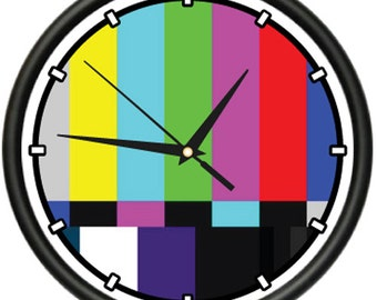 Tv Bars Wall Clock Test Television Bars Film Video