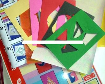 Iris Folding Kit 5 cardmaking projects Papercraft kit iris papers vol 2 scrapbooking greeting card making kit iris folding cards