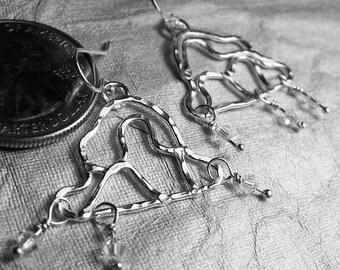 Sterling Silver Artisan Hammered Cloud Earrings