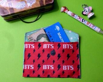Cute BTS Card Holder Mini Coin Purse Wallet K-pop
