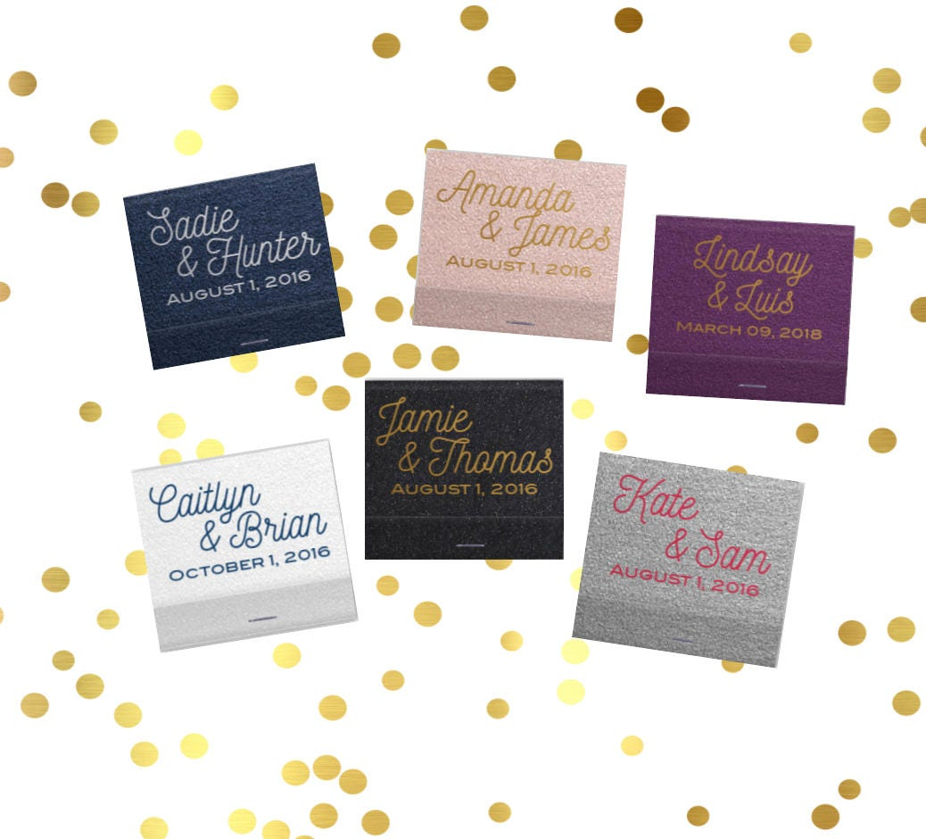 Personalized matches, wedding matchbooks, reception matches ...