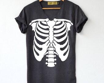 Skeleton Shirt Shirt Halloween T-Shirt High Quality Graphic T-Shirts Unisex