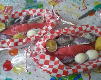 Maine Lobster dinner, Maine nautical dinner, shore dinner, Maine lobster, needhams, chocolate lobster, clam roller basket, Maine candy gift