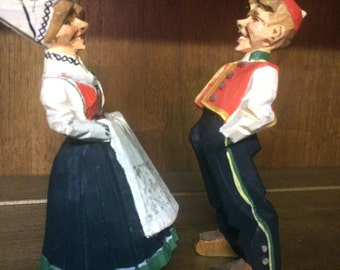 Norwegian folk art carved figurines
