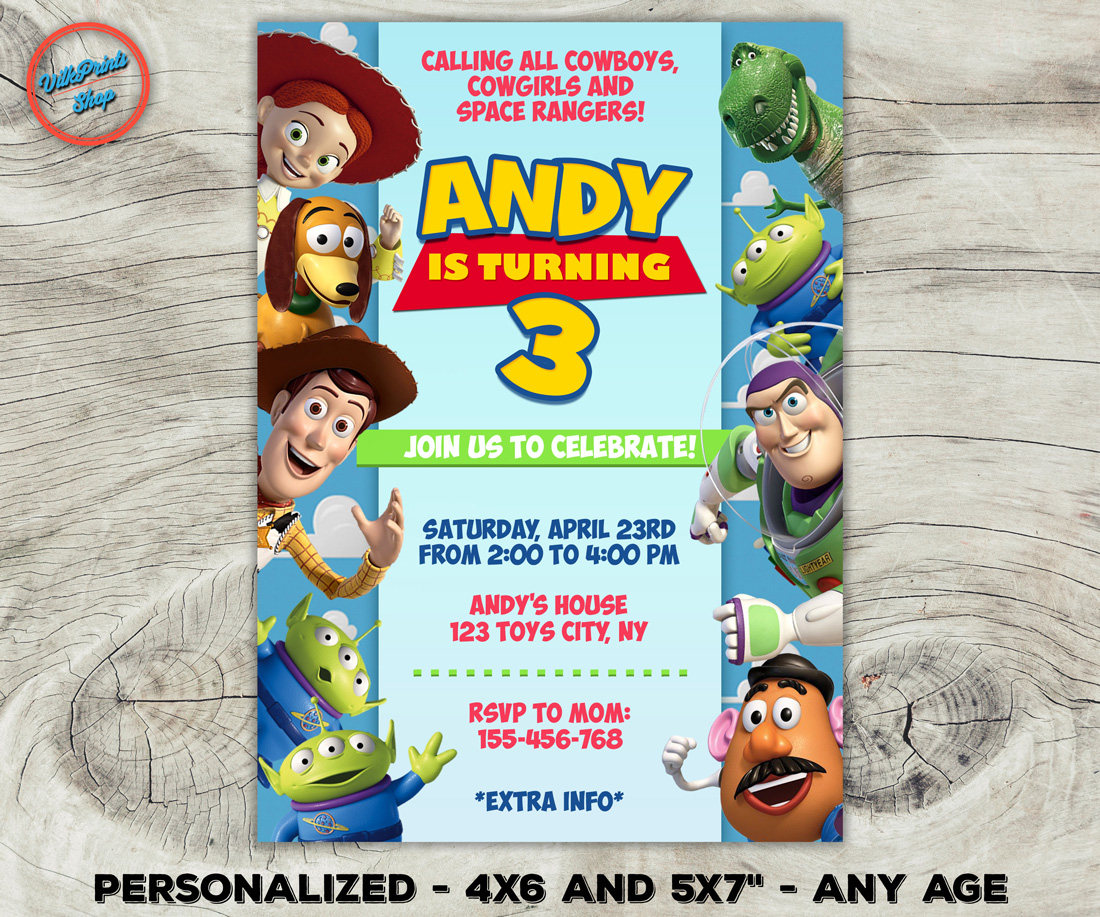 Toy Story invitation Toy Story birthday invitation Toy Story