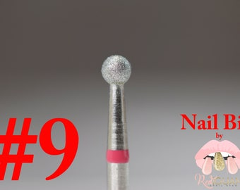 "Diamond Nail Bit ""Ball #9"" - 3.1mm"