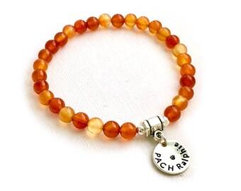 Carnelian Dog Agility Title Bracelet - PACH - MACH - ADCH - Stretch Bead Bracelet - Mala Bracelet - Dog Agility Bracelet