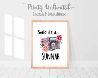 Smile Its A Sunnah, Islamic Print, Islamic Poster, Muslim Print, Islamic Quote, Islamic wall art, Islamic wall Print, Islamic Quote Art, Dua