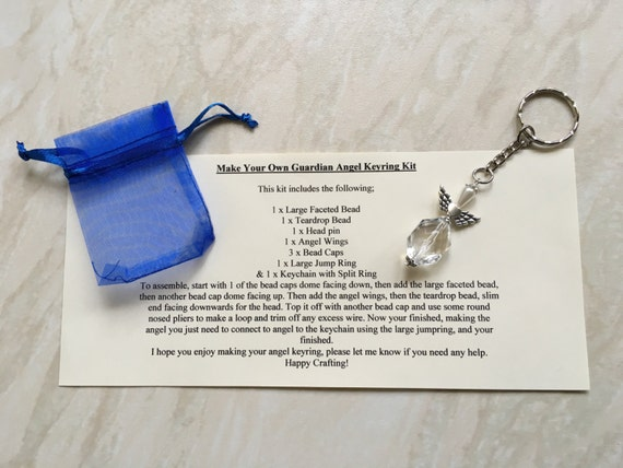 Diy craft kit make your own guardian angel keyring kit teenage diy craft kit make your own guardian angel keyring kit teenage craft kit large pendant white angel charm gift for her from craftylittleangelsuk solutioingenieria Choice Image