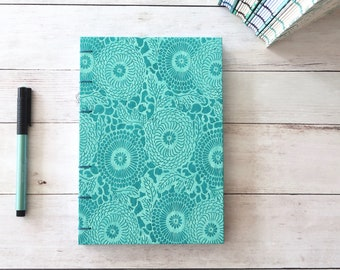 Nepal Coptic Journal Hardcover Hand Bound Coptic Notebook Travel Journal Blank Journal Stationery Gift for Writer 160 Lined White Pages