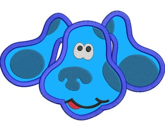 Blues Clues Disney Applique Embroidery Design - Instant Download