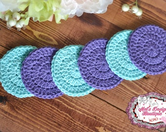 facial scrubbies - 100% cotton scrubbies - cotton facial set - reusable cotton set - crochet - facial rounds - makeup remover pads