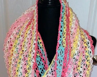 Infinity scarf / gift for her / scarf / crochet cowl / handmade /