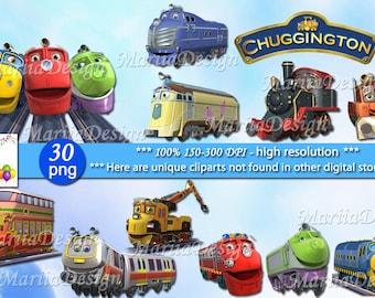 Chuggington Clipart 30 PNG, 150 Dpi, Chuggington, Chuggington png, Chuggington clip art, Chuggington birthday, Chuggington Party Supplies