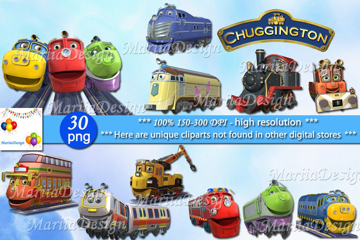 2Chuggington Clipart 30 PNG 150 Dpi Chuggington Chuggington