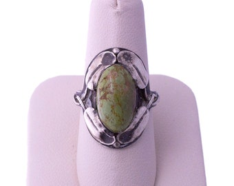Sterling Green Earthy Turquoise Ring