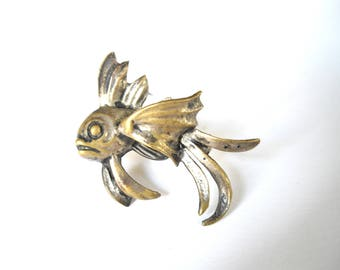 Vintage Fish brooche, natural 3D handmade fish pinbrooche, highly detailed realistic fish, Christmas gift for fishlover