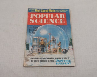 Popular Science January 1961 - Great Condition - Fascinating Articles and Hundreds of Vintage Advertisements