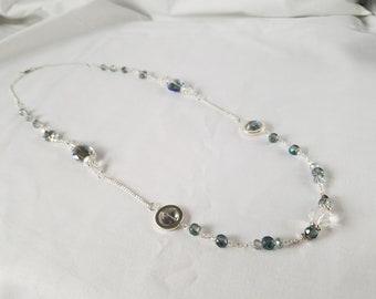 Czech Glass Chain & Link Necklace