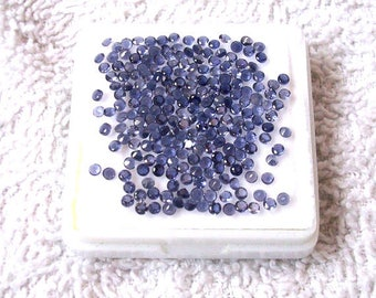 25 pieces 2mm Ioilite faceted Round Gemstone, Natural Blue Iolite Round Faceted AAA Quality Gemstone, Iolite Faceted Round Loose Gemstone