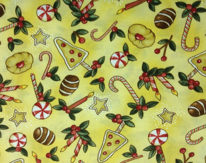Peppermint Cottage 100% cotton fabric, sold by the yard   #408