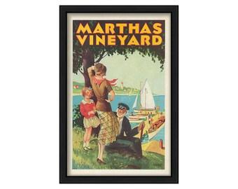 Martha's Vineyard Travel Poster 1931