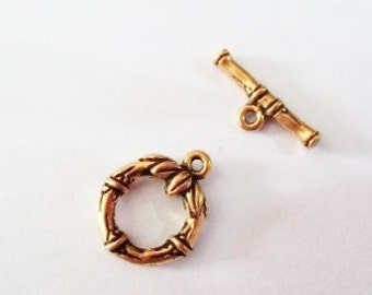 SALE! Tierra cast clasp toggle clasp gold plated clasp pewter toggle clasp gold toggle clasp pewter clasp bamboo clasp American made clasp