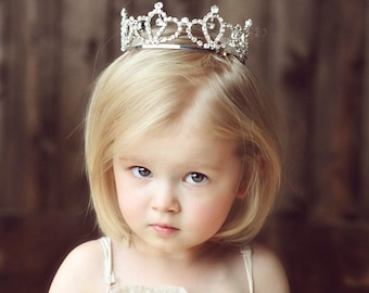 Toddler Crown, Child Crown, crown, crystal crown, photo prop, photography prop, Photo Prop - Penelope