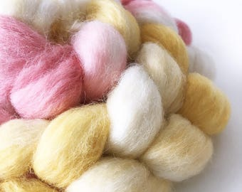 Superfine Alpaca Roving . Hand Dyed Made to Order . Hand Painted . 100% Combed Alpaca Roving  . OOAK . Spinning Supply . 4oz
