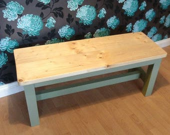 Farm House Style Foot Bar Kitchen Bench