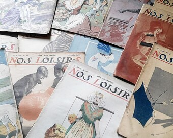 """Set of 27-magazines """"Our leisure"""" from 1906 to 1912"""