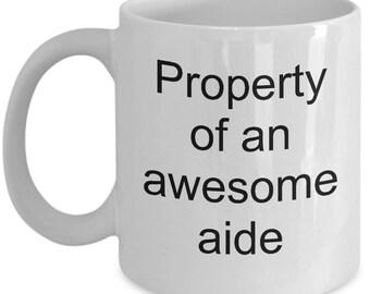Aide mug - Aide gifts -kool aid mug - Band aid mug - Aide Coffee Mug  - Gift for Aide - hearing aid specialist mug - first aid