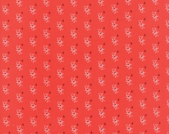 Hazel and Plum - Pumpkin Seeds in Pomegranate Red: sku 20293-11 cotton quilting fabric by Fig Tree and Co. for Moda Fabrics